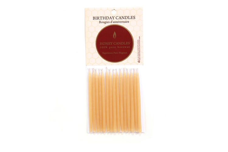 Beeswax - Natural Birthday Candles