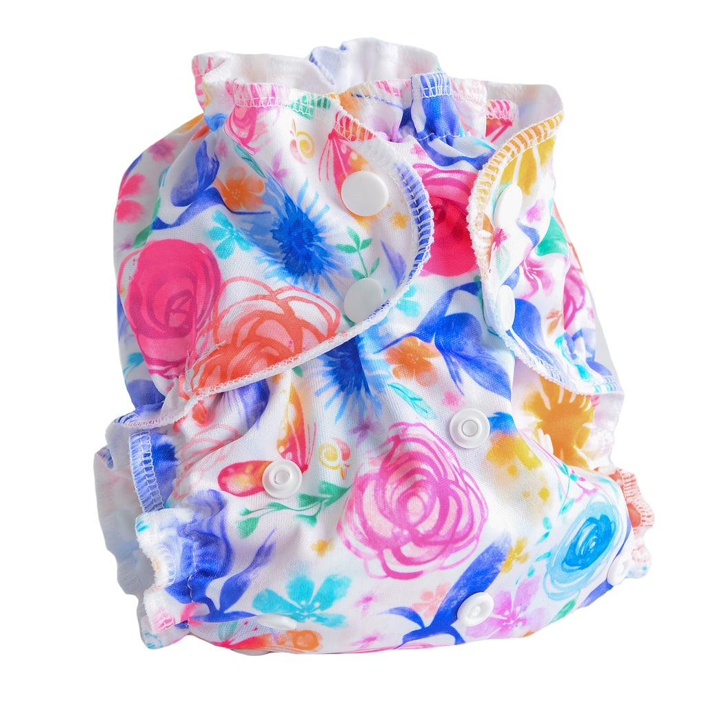 Petal Faster - One-Size SWIM Diaper Cover - AppleCheeks