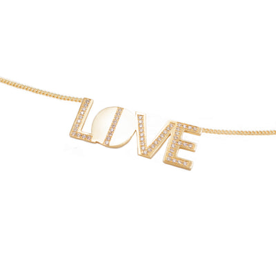 live love necklace made in sterling silver and gold vermeil