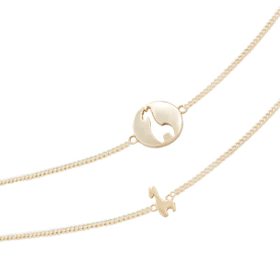 Friendship necklace gold 18k giraffe