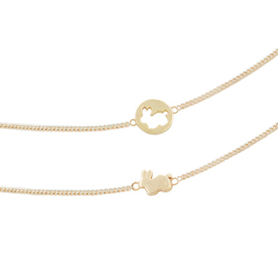 Gold 18k friendship necklace