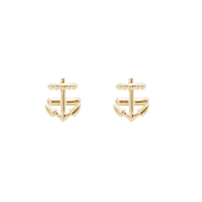 navy sterling silver with gold vermeil cufflinks