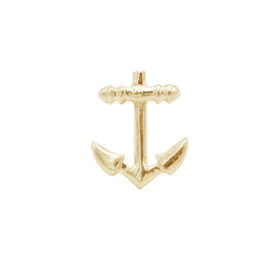 sterling silver navy pin with gold vermeil