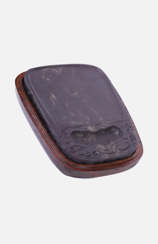Vintage Duan Inkstone with Dragon Patterns (7-inch) (Old Song Cave)