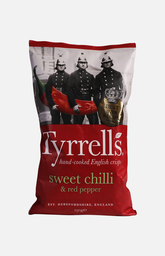 Tyrrells Sweet Chilli & Red Pepper Crisps (150g)