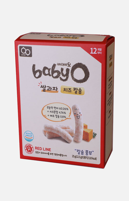 Baby'O Organic Rice Crackers (Cheese+Lecithin)