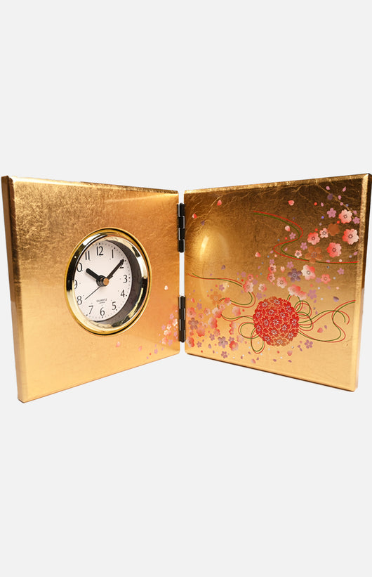 Japan Yamato Gold Leaf Crafts Table Clock (M16419-0)