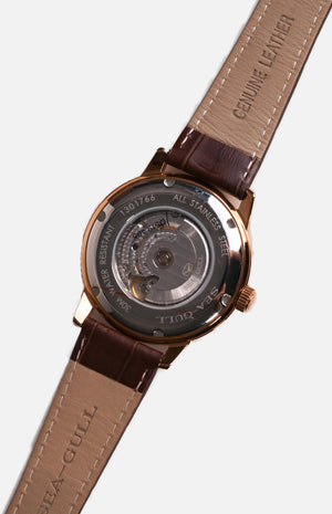 SeaGull Rose Gold Mechanical Watch (519.405)
