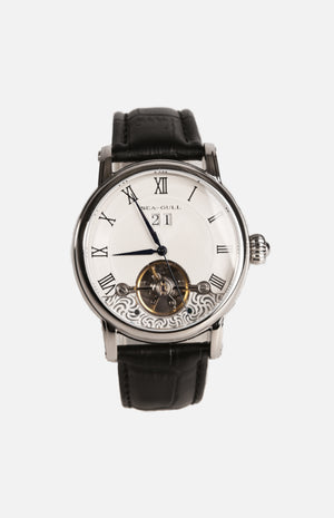 SeaGull Grande Date Skeleton Oscillating Weight Mechanical Watch (819.382)