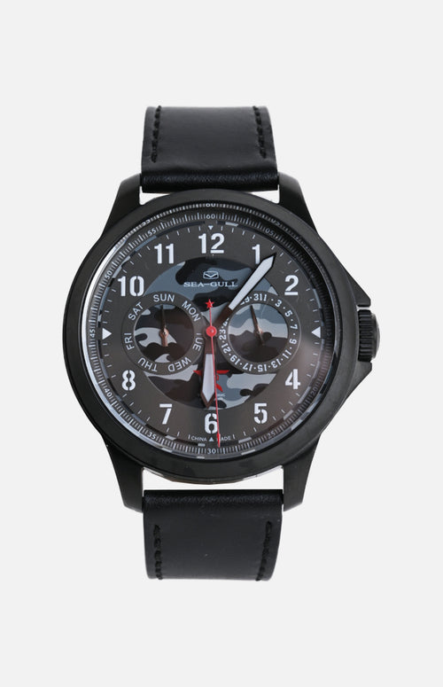 SeaGull Black Camo Military Watch (819.97.1012H)