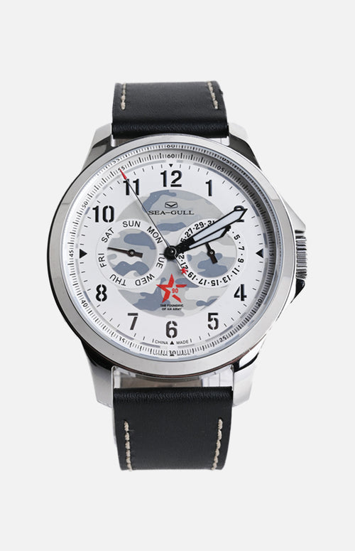 SeaGull White Camo Military Watch (819.97.1010)