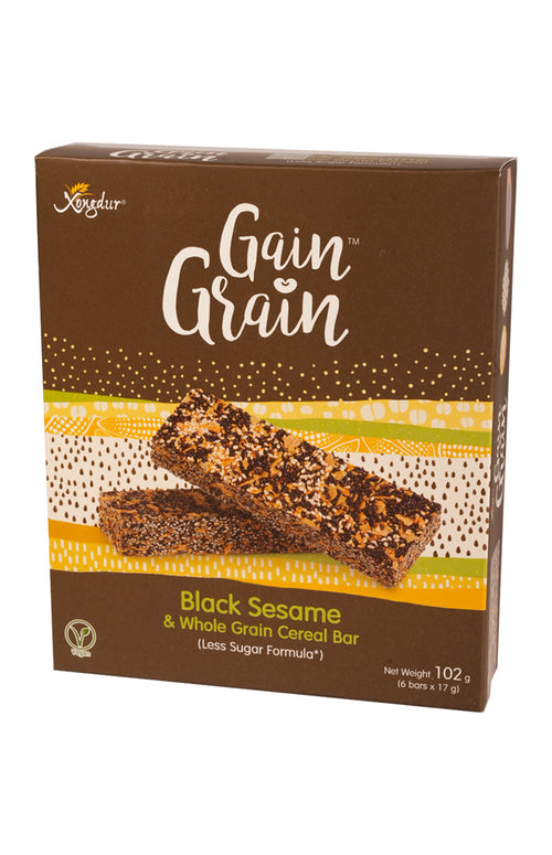 Black Seasame & Whole Grain Cereal Bar (Less Sugar Formula)