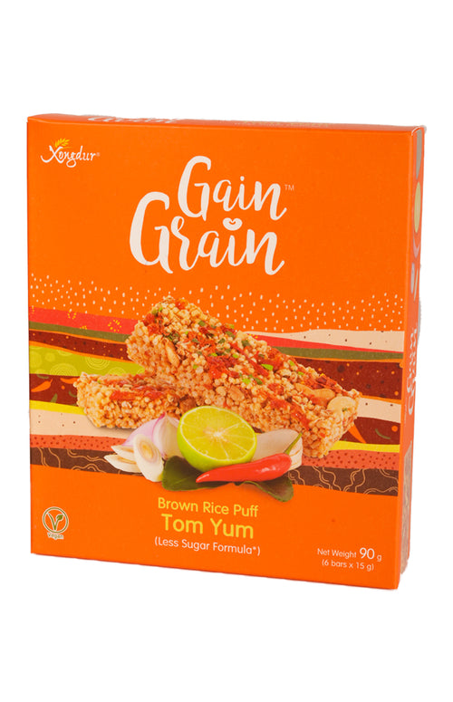 Brown Rice Puff Tom Yum (Less Sugar Formula)