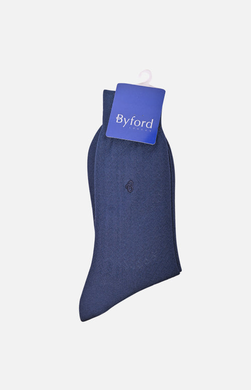 Mercerized Cotton Execitive Socks (Navy)