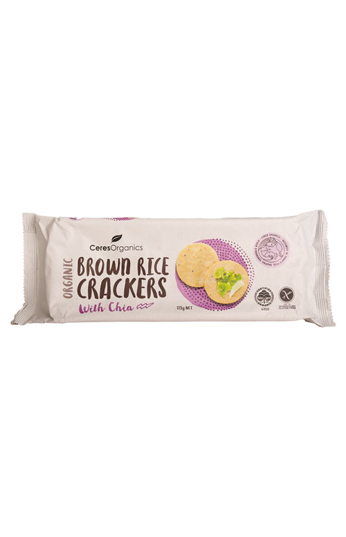 Ceres Organics Brown Rice Crackers With Chia