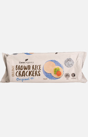 Ceres Organics Brown Rice Crackers Original