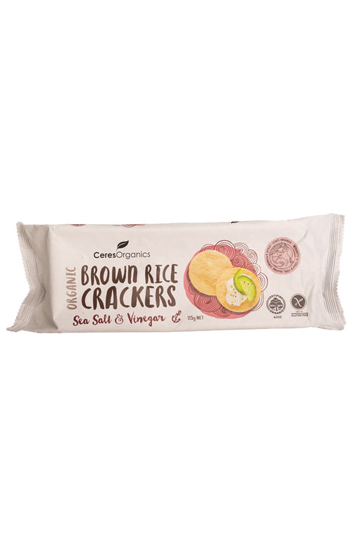 Ceres Organics Organics Brown Rice Crackers Sea Salt & Vinegar