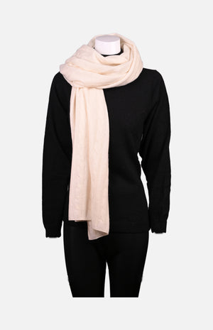 Cashmere Knit Shawl(White)