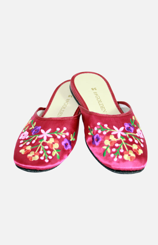 Golden Step Ladies Embroidered slippers