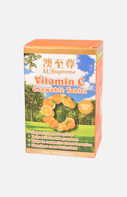 Ausupreme - Vitamin C Chewable Tablet 100's(4 Btl Set)