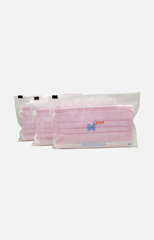 M Plus Standard Mask(Made in HK, 30pcs)(Pink)