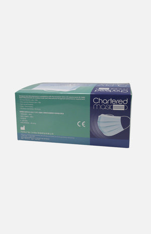 *Chartered Mask 3-PLY Medical Mask with Ear-loops(Made in HK, 30 pcs, Individual Packaging)(Blue)