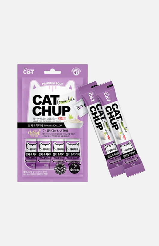 CAT CHUP Cats Snack (Tuna & Scallop) 13g x 4packs