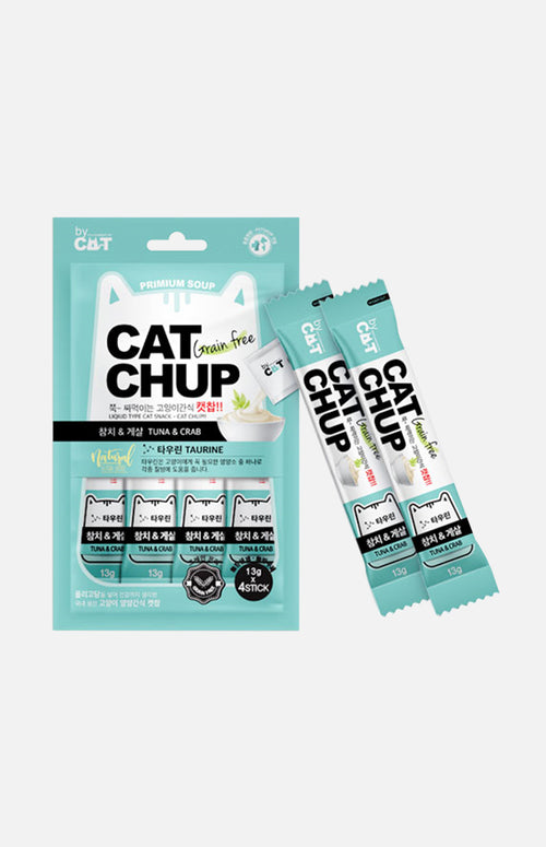 CAT CHUP Cats Snack (Tuna & Crab) 13g x 4packs