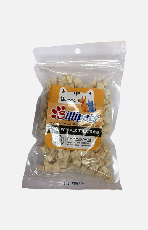 Freeze Dried Pollack Treats  (For cats and dogs) (65g)