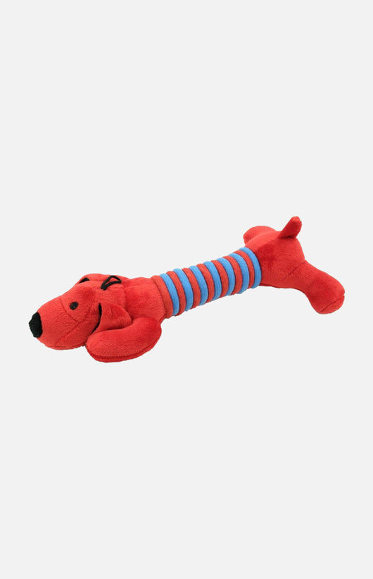 Soft Plush Long Belly Dog-Color-Red 28cm