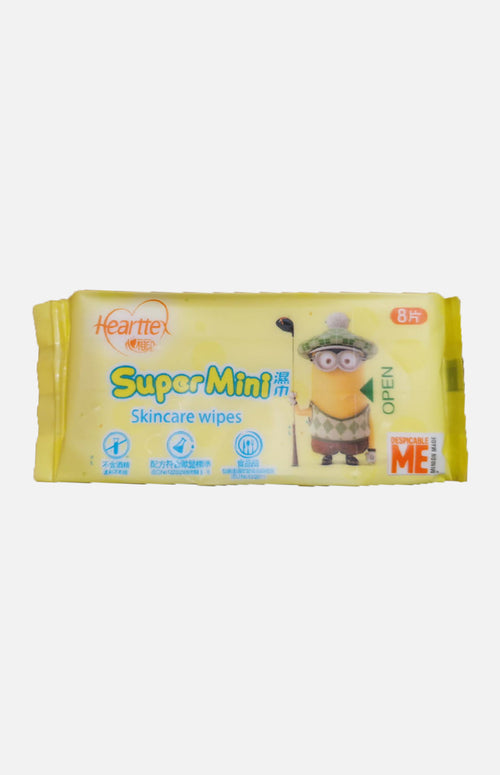 Hearttex Cartoon Super Mini Wet Tissue(1 bag)
