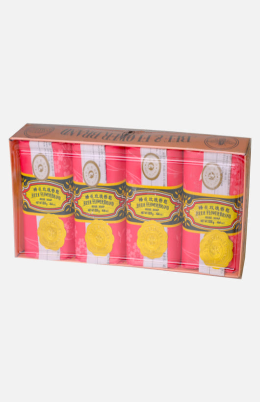 Bee & Flower Sandalwood Soap- Rose fragrance (4pcs)