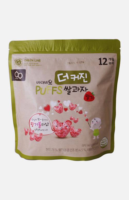 Baby'O Nutrient Heart-Shaped Puff Rice Cracker (Refill Pack) (Strawberry flavour)