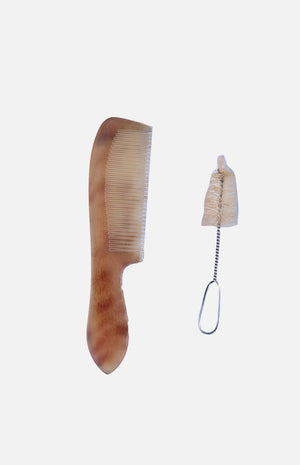 Horn Comb with brush set