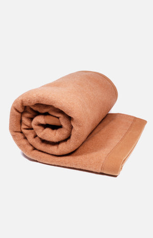Double Sheep Camel Hair Blend Queen Blanket