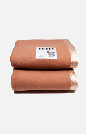 Sheep Wool Blended Double Blanket (70*90