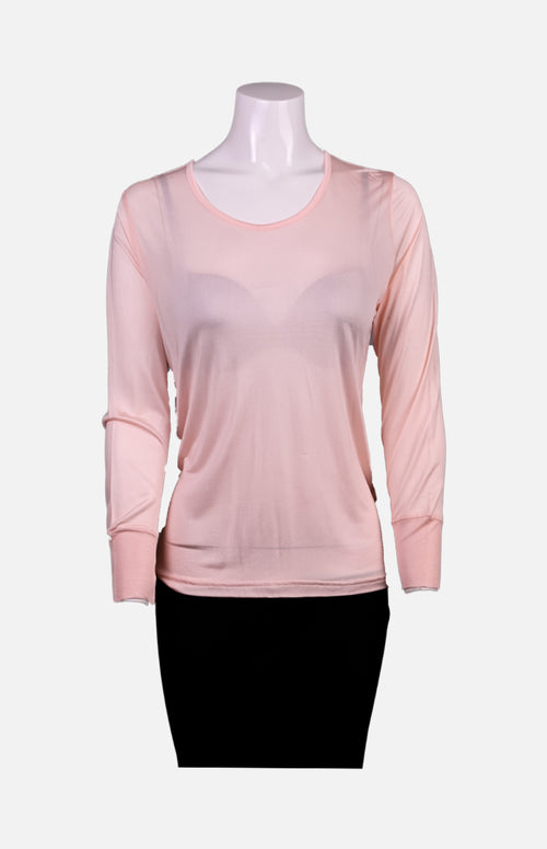 Silkcity Long Sleeves Round Neck Silk Ladies Spencer-Skin