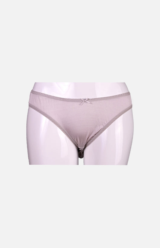 Ladies Low Waist Silk Panties-Grey