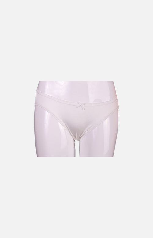 Ladies Low Waist Silk Panties- White