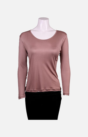 Willy Long Sleeves Round Neck Thick Fabric Silk Ladies Spencer- Skin