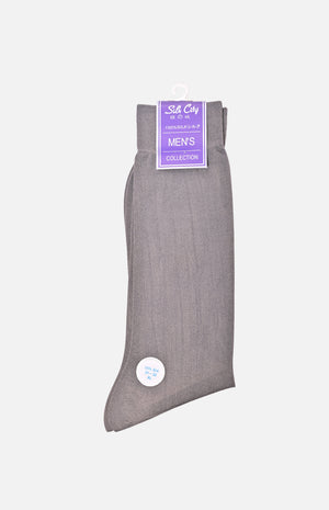 Silk Socks (3 pairs set)(Light Grey)