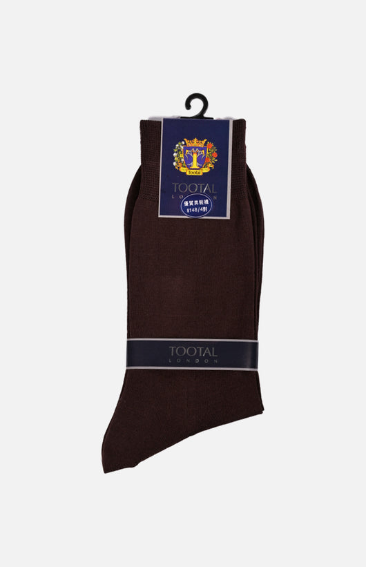 Cotton Socks (3 pairs set)(Brown)