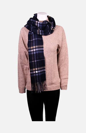 Cashmere Shawl(Navy Checkers)