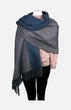 Cashmere Reversible Shawl(Dark Green/Grey)