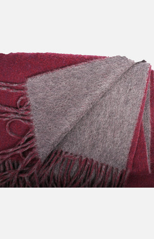 Cashmere Reversible Shawl(Burgundy/Grey)