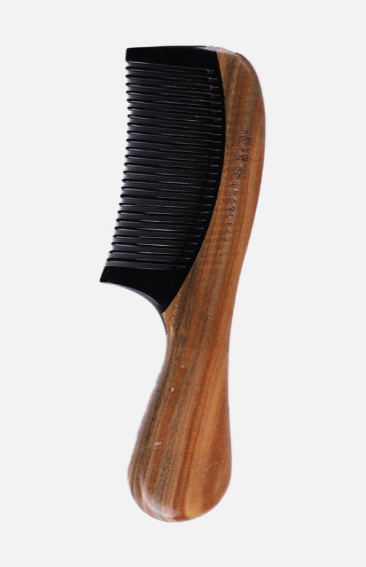 Wooden Handle Bone Comb
