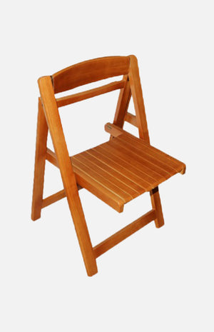 Rubber wood folding chair