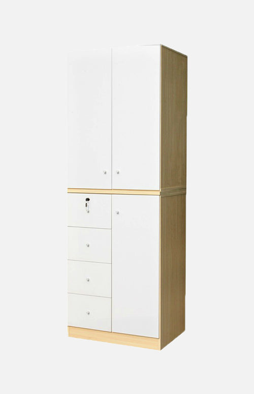 White maple wardrobe with combinations