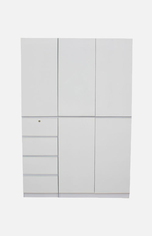 White Wardrobe with combination
