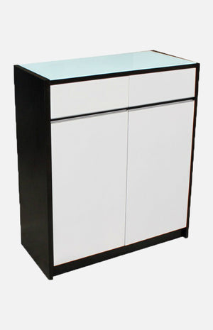 Shoe cabinet with 2 drawers